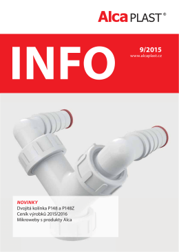 INFO 9/2015 - Alca plast, sro