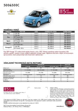 Ceník - Fiat