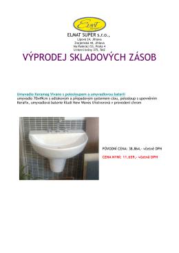 Výprodej skladových zásob_Praha