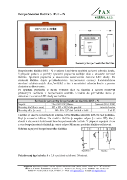 Bezpečnostní tlačítko HSE - N