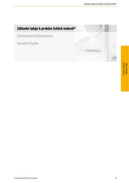 Základní údaje k prvkům Schöck Isokorb