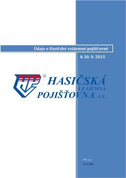 Údaje o Hasičské vzájemné pojišťovně