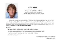 Jan Mára - webdev.fit.cvut.cz