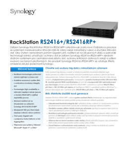Brožura Synology RackStation RS2416+/RS2416RP+