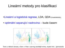 Lineární metody pro klasifikaci