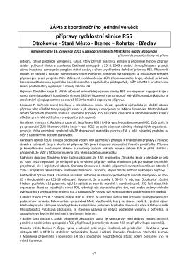 Zápis z jednání R55