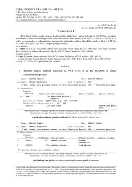 Usnesení o odročení - nový termín
