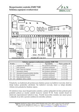 Schéma zapojení svorkovnice