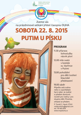 SOBOTA 22. 8. 2015 PUTIM U PÍSKU