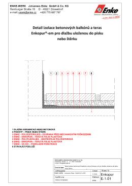 Detail izolace betonových balkónů a teras Enkopur®