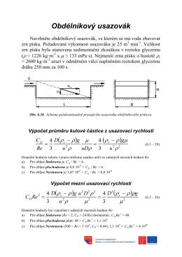 Dělení heterogenních směsí pomocí gravitace