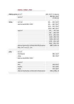 PÍSKY tříděná zemina do 5 m3 620,- Kč/m3 vč