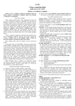˘kol (M˘MT) V 1-01 - Statistika školství