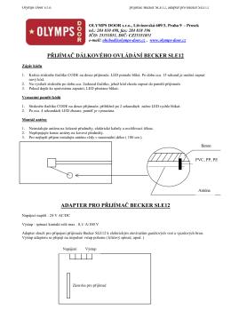 pdf manuál k načítání dálkového ovladače BECKER
