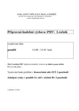 Rozvrh PHV 2