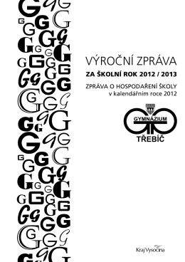 Výroční zpráva za školní rok 2012/2013