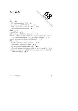 68rıjen • 2015 ČMS 2 XIV. valné shromáždění ČMS 9 Zpráva o