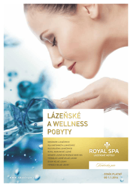 Katalog ROYAL SPA 2016