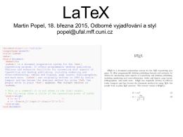 Prezentace o LaTeXu