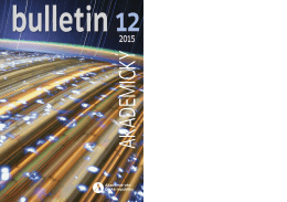 obsah ročníku 2015 - Akademický bulletin