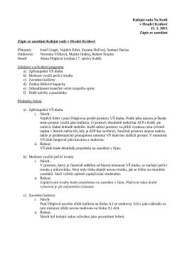 Zápis KR Na Kotli 15. 5. 2015