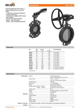 mezipřírubové klapky s ručním přestavením (PDF
