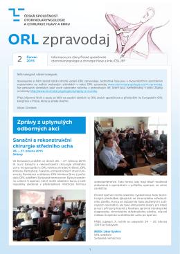 ORL zpravodaj - Česká společnost otorinolaryngologie a chirurgie