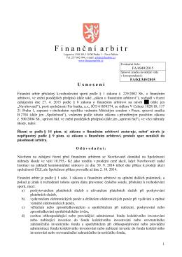 Usnesení o zastavení řízení pro nepřípustnost návrhu