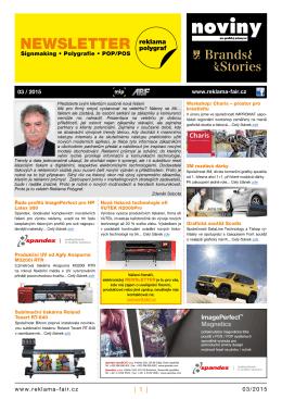 Newsletter 03/15 - Reklama Polygraf