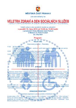 Leták Den sociálních služeb Prahy 8