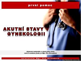 16. kap._PRP_akutní stavy v gynekologii