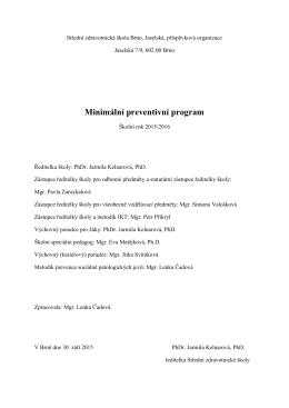 Minimální preventivní program