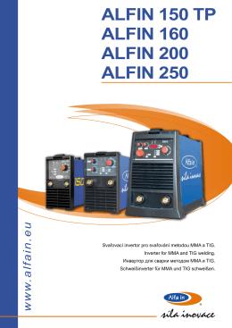 ALFIN 150 TP ALFIN 160 ALFIN 200 ALFIN 250
