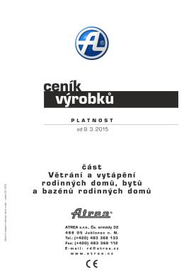 Ceník Atrea RD 2015 - prima