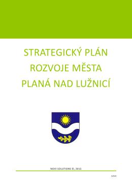 STRATEGIcký plán rozvoje města planá nad Lužnicí