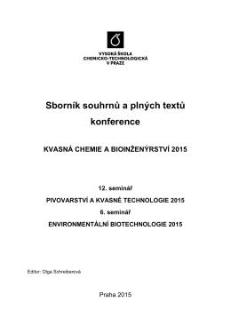 Sborník 2015 - Ústav biotechnologie