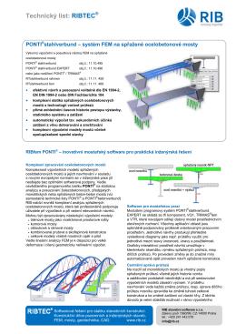 Technický list: RIBTEC® - RIB stavební software sro