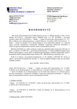 MUHO- 17445- 2015 uzavirka II 117 Horovice