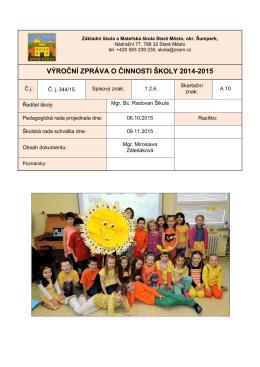 2014-15 - Základní škola Staré Město.