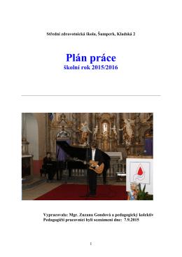 Plán práce pro rok 2015/2016 - Střední zdravotnická škola Šumperk