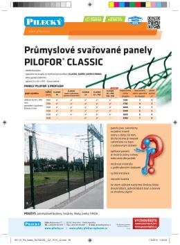Průmyslové svařované panely PILOFOR® CLASSIC