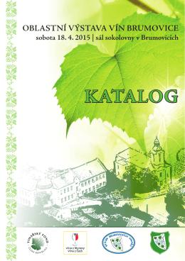 Katalog výstavy vín