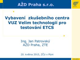 KP ETCS - informace o projektu