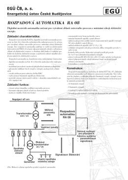 ROZPADOVÁ AUTOMATIKA RA 08