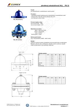 Plovákový odvzdušňovač HILL