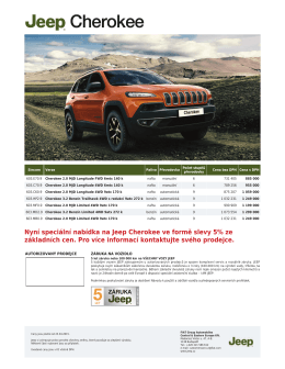 Ceník - Jeep