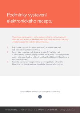 Podmínky vystavení elektronického receptu
