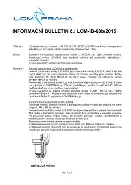 INFORMAČNÍ BULLETIN č.: LOM-IB-08b/2015
