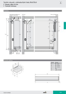 Systém zásuvek s jednoduchými boky MultiTech