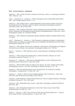 Valentová, J. 1991 - Archeologie na dosah